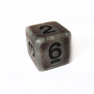 Silver Ancient Bone Dice Bulk Pieces