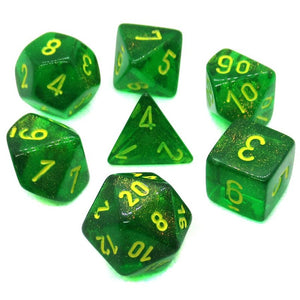Borealis Maple Green Polyhedral RPG Dice Set