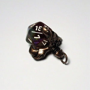Copper Talon d20 Pendant