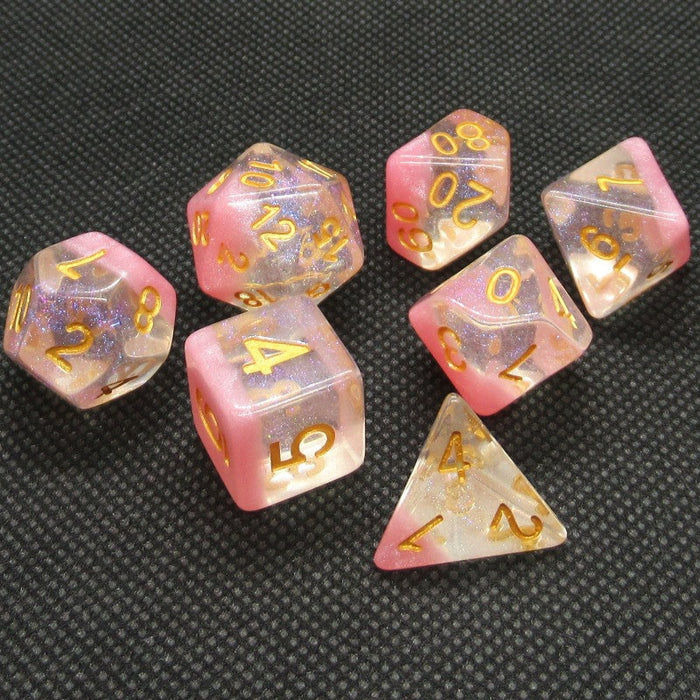 Cherry Blossom Polyhedral RPG Dice Set