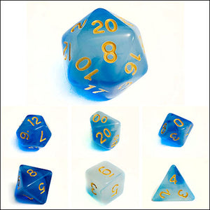 Cloudy Blue Dice Bulk Pieces