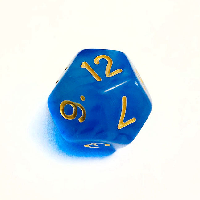 Cloudy Blue d12 Bulk Dice
