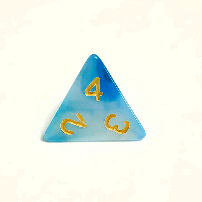Cloudy Blue d4 Bulk Dice