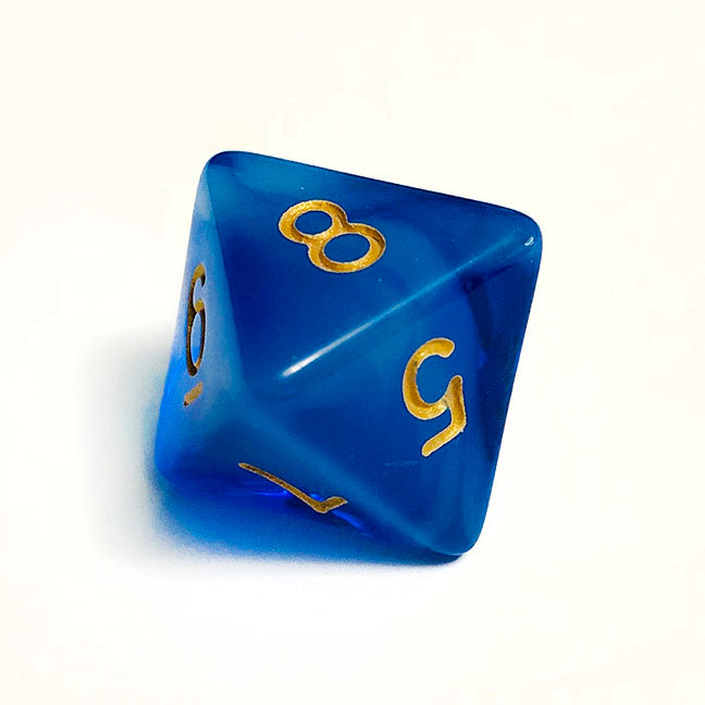 Cloudy Blue d8 Bulk Dice