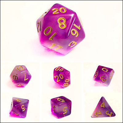 Cloudy Purple Dice Bulk Pieces