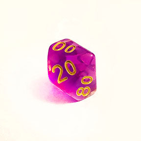 Cloudy Purple d10% Bulk Dice