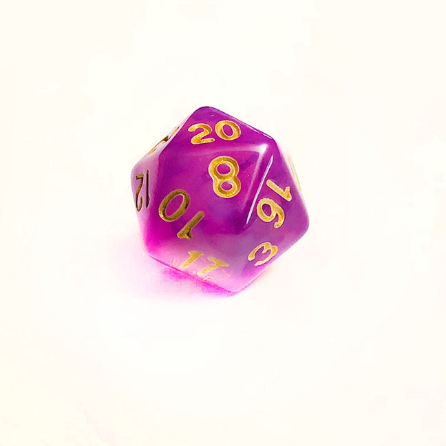 Cloudy Purple d20 Bulk Dice