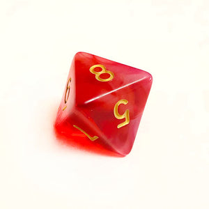 Cloudy Red Dice Bulk Pieces