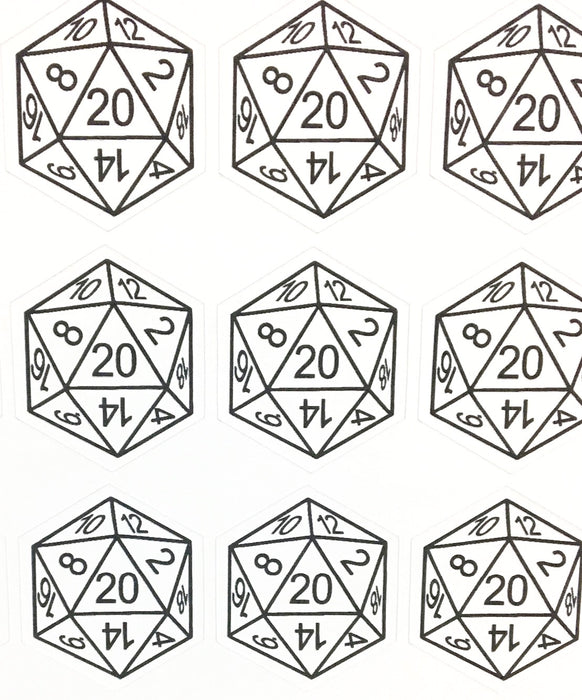d20 Sticker Sheet