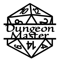 Dungeon Master Split d20 Decal