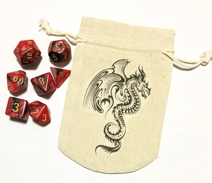 Tribal Dragon Design Dice Bag