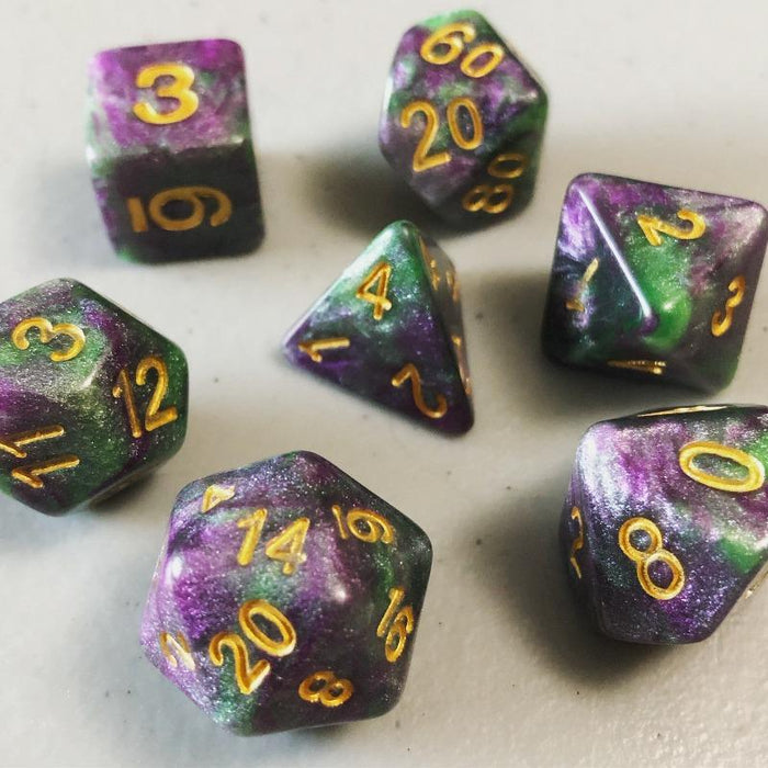 Druid's Dilemma Polyhedral RPG Dice Set