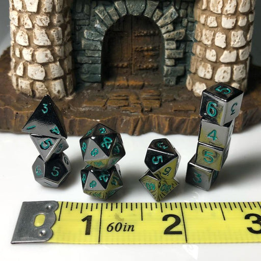 Extended 10mm Metal Dice Set