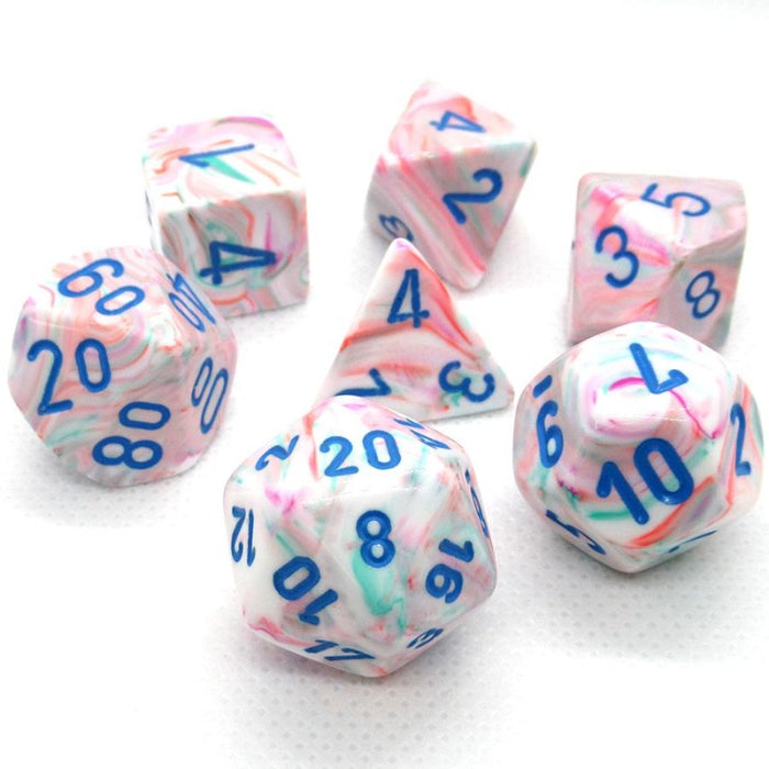 Festive Pop Art Polyhedral RPG Dice Set