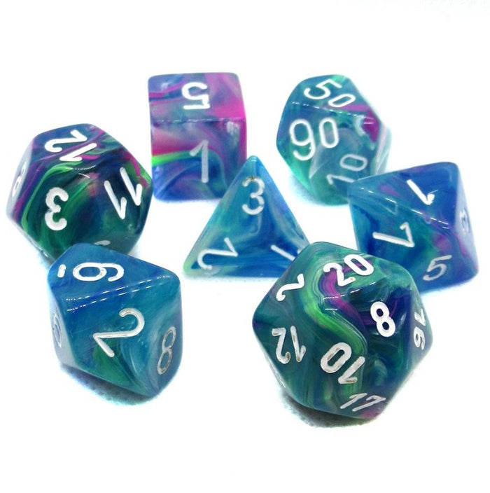 Festive Waterlily Polyhedral RPG Dice Set