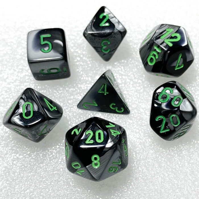 Gemini Black-Grey Polyhedral RPG Dice Set