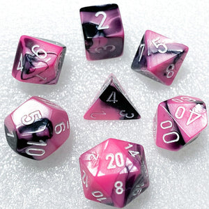 Gemini Black-Pink Polyhedral RPG Dice Set