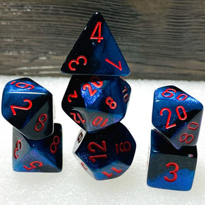 Gemini Black-Starlight Polyhedral RPG Dice Set
