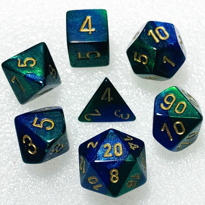 Gemini Blue-Green Polyhedral RPG Dice Set