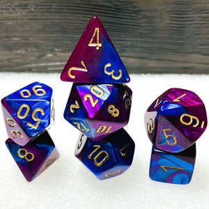 Gemini Blue-Purple Polyhedral RPG Dice Set