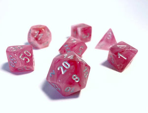 Chessex Ghostly Glow Pink Dice Set