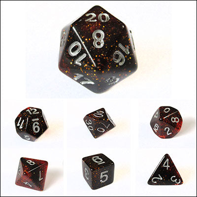 Red Glitter Dice Bulk Pieces