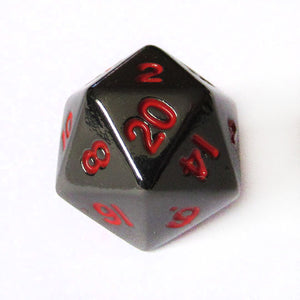 10mm Gloss Black d20 Bulk Dice