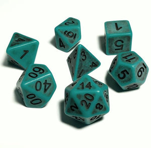 Green Ancient Bone Dice Polyhedral RPG Dice Set