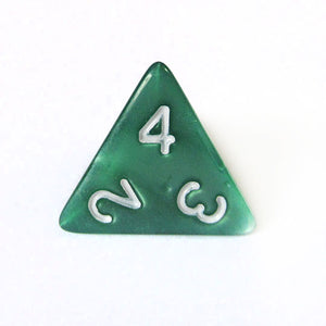 Green Pearl Dice Bulk Pieces