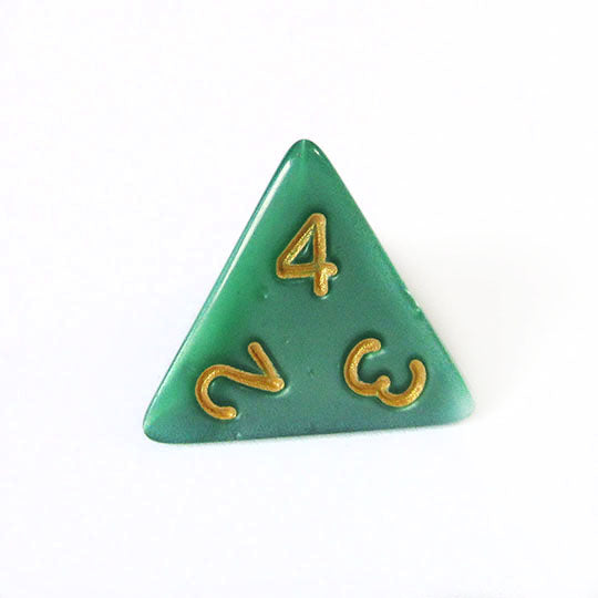 Green and Gold Pearl Dice Bulk Pieces