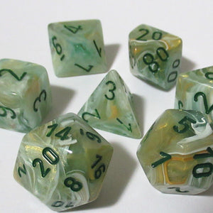 Chessex Green Marble Polyhedral Dice Set