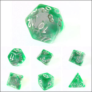 Green Nebula Swirl Dice Bulk Pieces