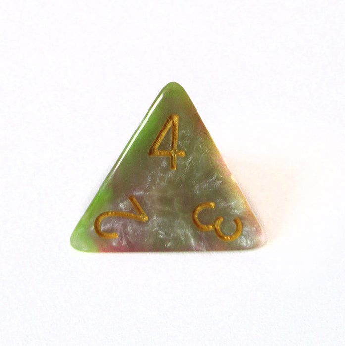 Pink and Green Marble Dice Bulk Pieces