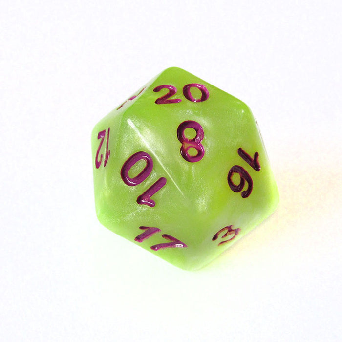 Green and Yellow Marble Dice Bulk Pieces