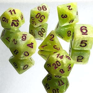 Green Yellow Dice Set