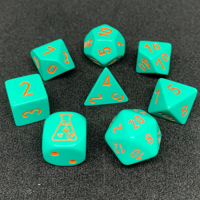 Heavy Turquoise Polyhedral RPG Dice Set