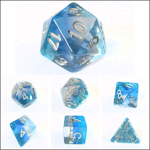 Blue Transparent Layered Dice Bulk Pieces