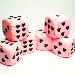Pink Ice Cream Dice with Heart Pips