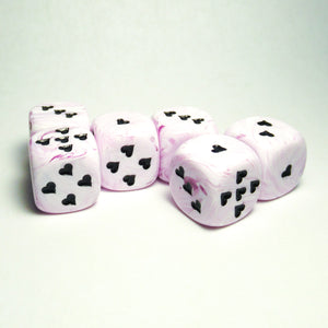 Purple Ice Cream Dice with Heart Pips