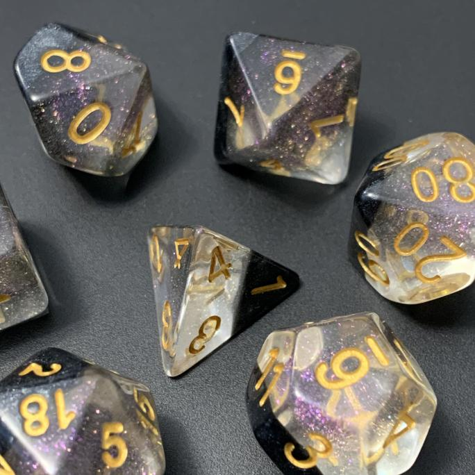 Crystal Ice Polyhedral RPG Dice Set