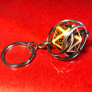 D20 Dice Cage Keychain