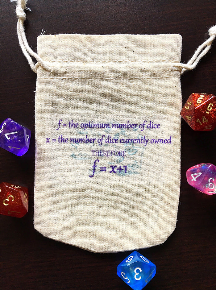 Linen Drawstring Dice Bag