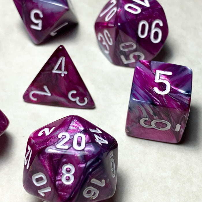Lustrous Amethyst Polyhedral RPG Dice Set
