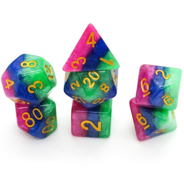 Jester's Gambit Polyhedral RPG Dice Set