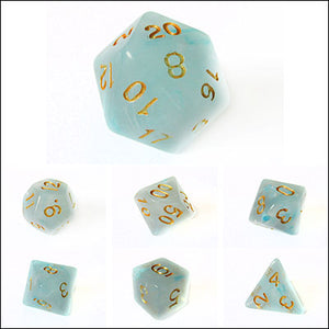 Blue Lake Mist Dice Bulk Pieces