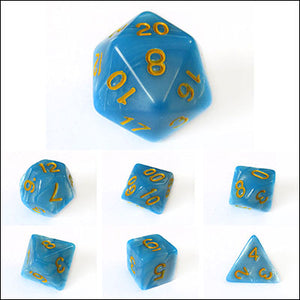 Light Blue Pearl Dice Bulk Pieces