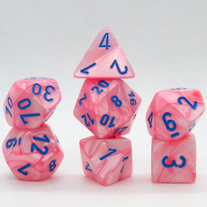 Lustrous Pink Polyhedral RPG Dice Set