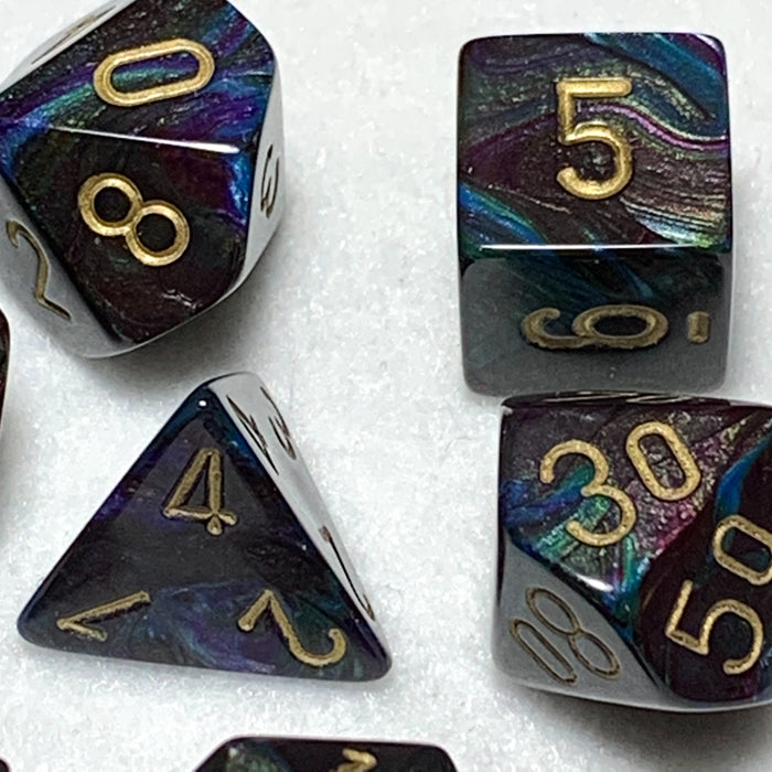 Lustrous Shadow Polyhedral RPG Dice Set
