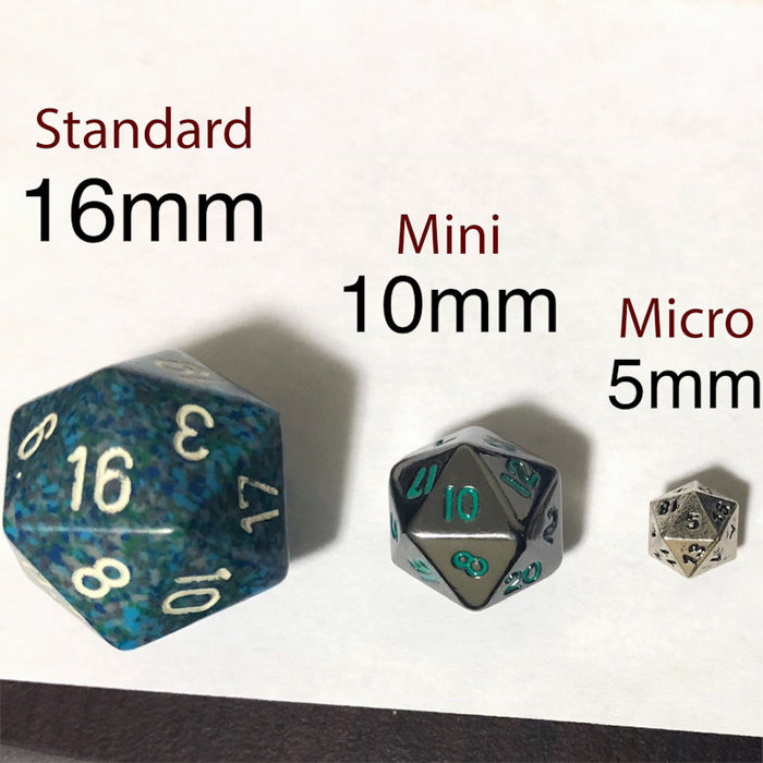 Dice Size Comparison