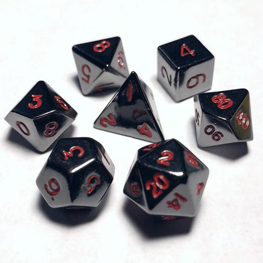 Mini Metal Polyhedral Dice Set